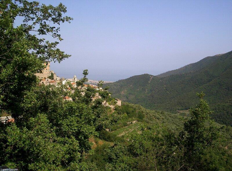 Вид с горы на горы.