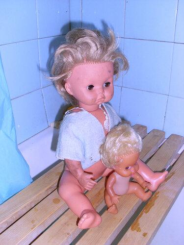 спасенные куклы-брошенки Клара и Катя, состояние-1