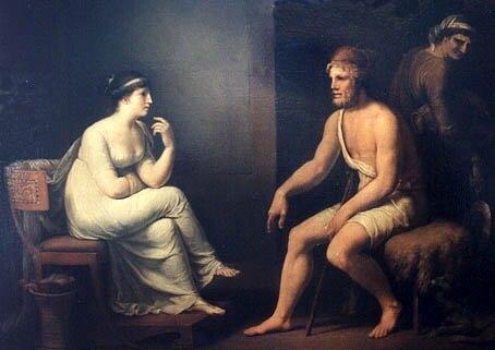 Johann H.W.Tischbein, Одиссей и Пенелопа