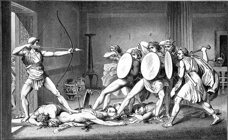 Густав Шваб, Одиссей, убивающий женихов
