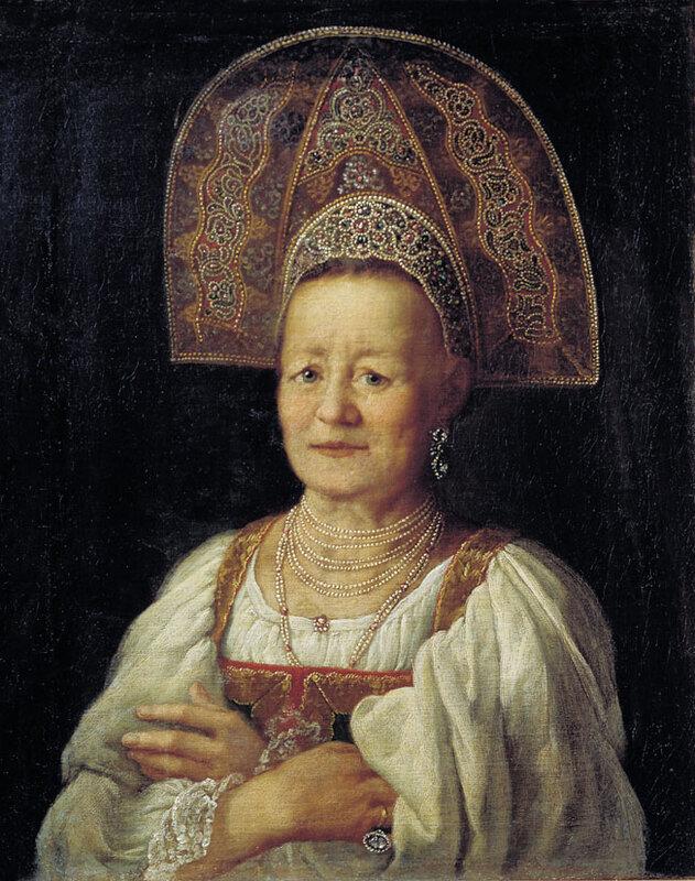 Дрождин Петр Семенович, Портрет купчихи в кокошнике