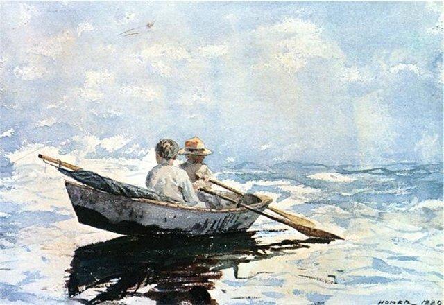 У.Хомер В лодке 1880 г.