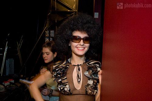 фоторепортаж фотомодель модели fashion  Defile in Kyiv, бэкстейдж