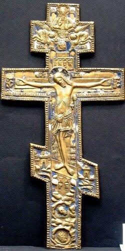 КРЕСТ-РАСПЯТИЕ 19 век 34.2 x 17.2 x 0.6 cм.