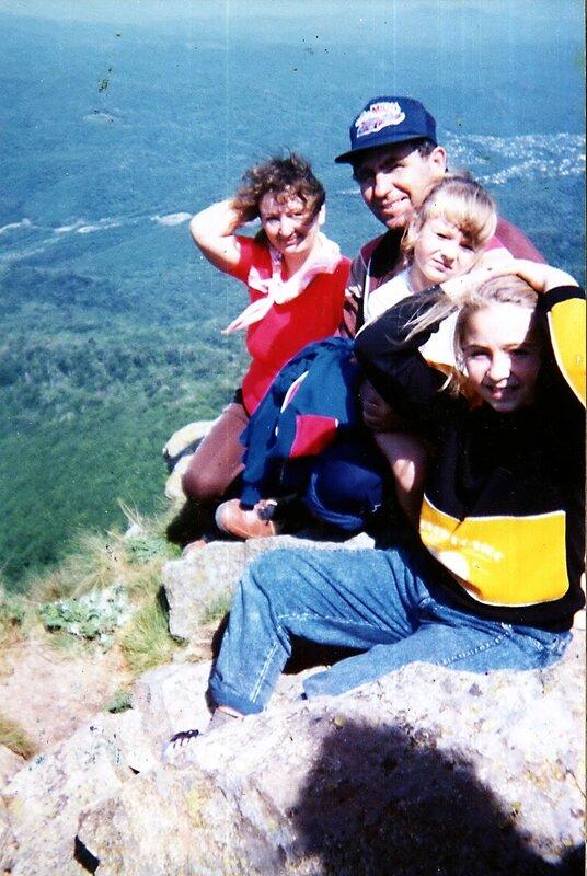 Ретро-тур. фото. Август 1994 года. На вершине Индюшки.