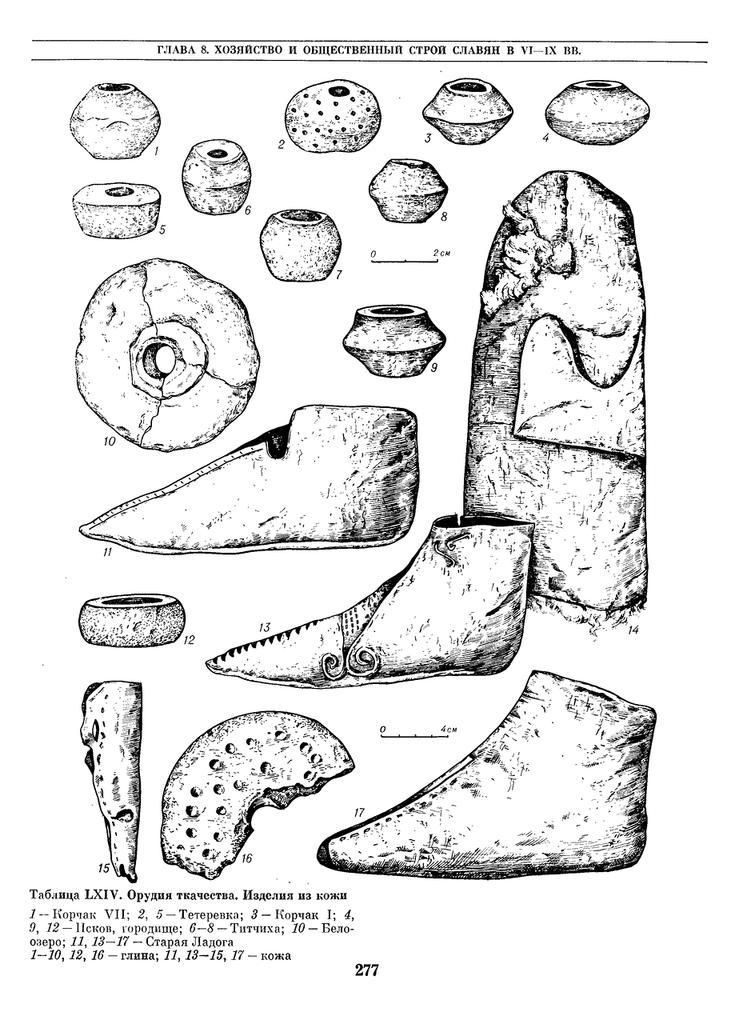 rурганные древности восточных славян