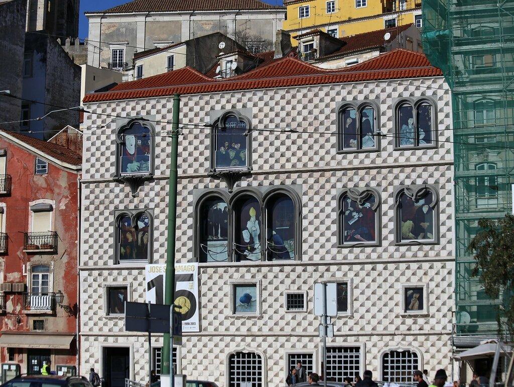 Lisbon. The house of spikes (Casa dos Bicos)