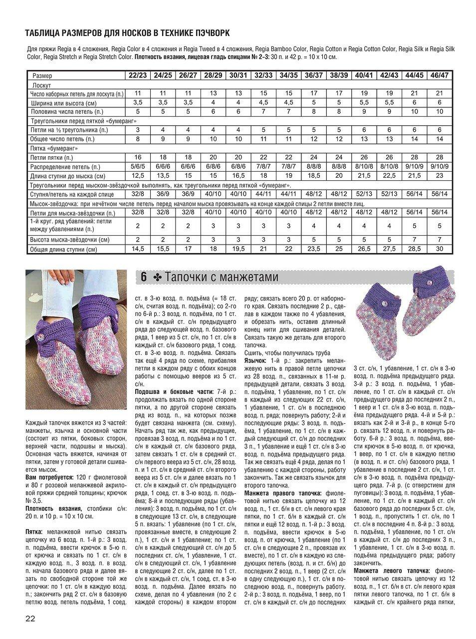 Вязание детских носков спицами на 5 спицах 22
