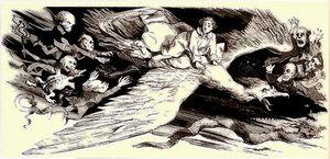 Тарантас превращается в птицу после встречи с Гоголем (20 глава «Сон»)