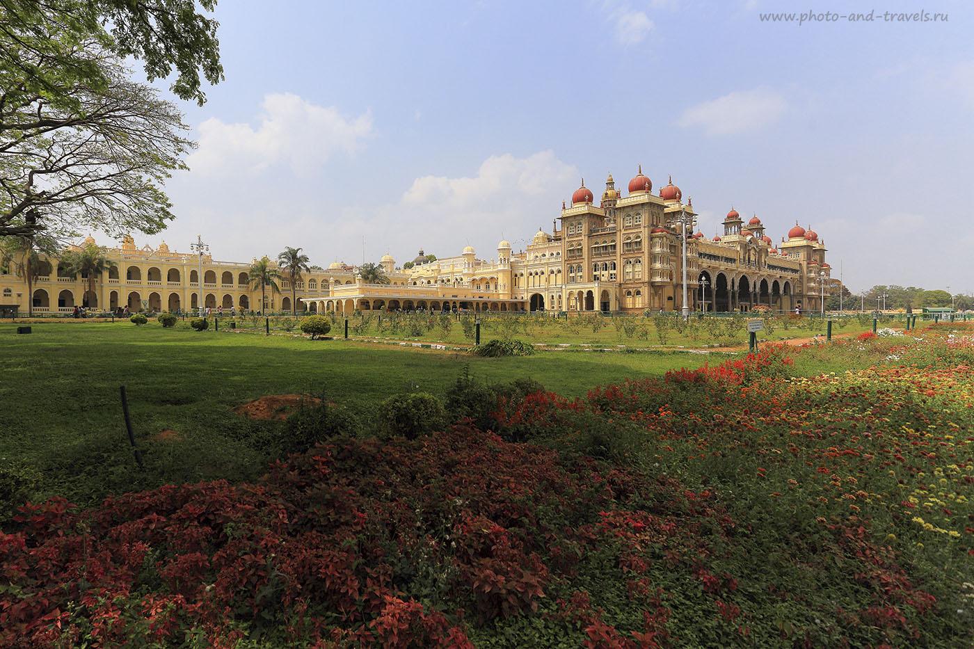 Фото 11. Дворцовый сад. Отчет о поездке в Майсур в штате Карнатака в Индии. 1/400, -1, 7.0, 100, 17