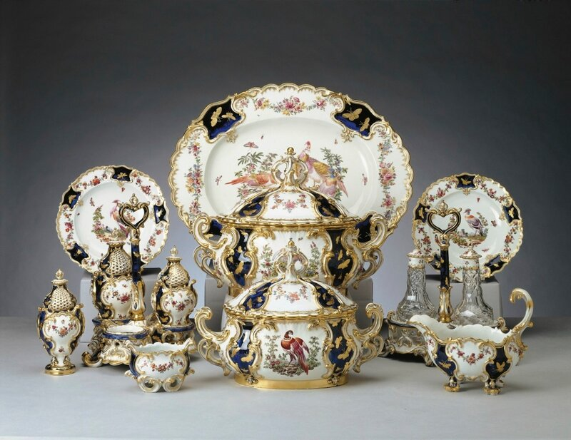 Chelsea Porcelain Works [London] (c. 1745-69)The 'Mecklenburg' dinner and dessert service<br />
