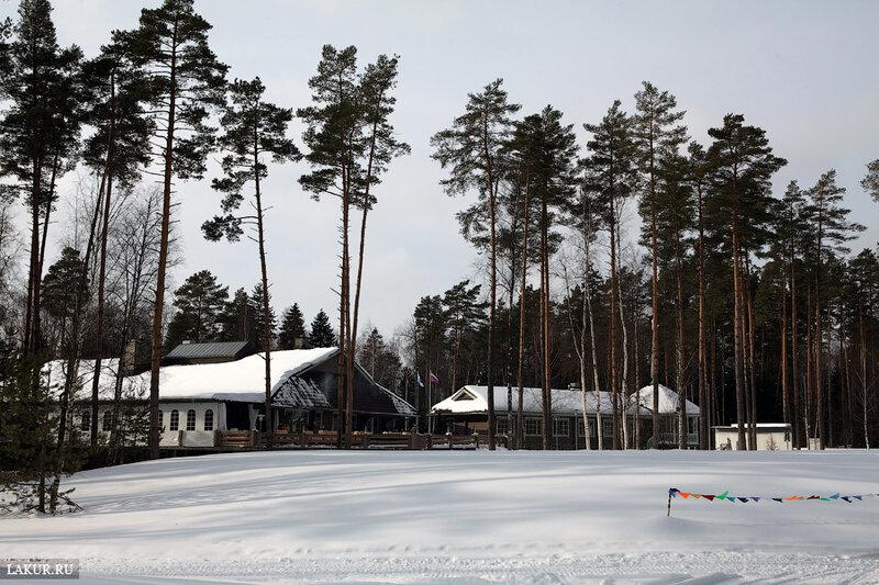 гольф-клуб зимой