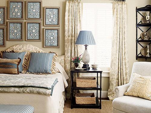 дизайн спальни своими руками бело-голубая гамма интерьера