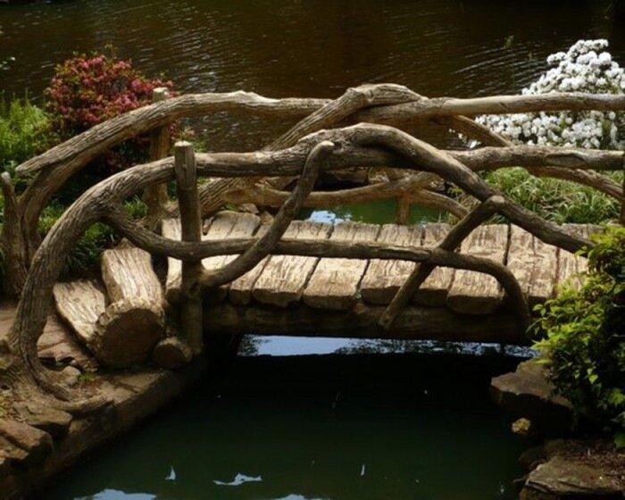 Мостик в саду своими руками