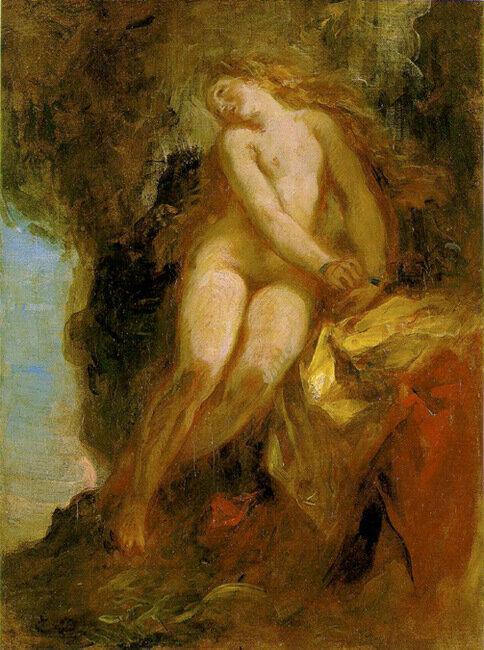 Андромеда, Эжен Делакруа (Delacroix) франц.1852