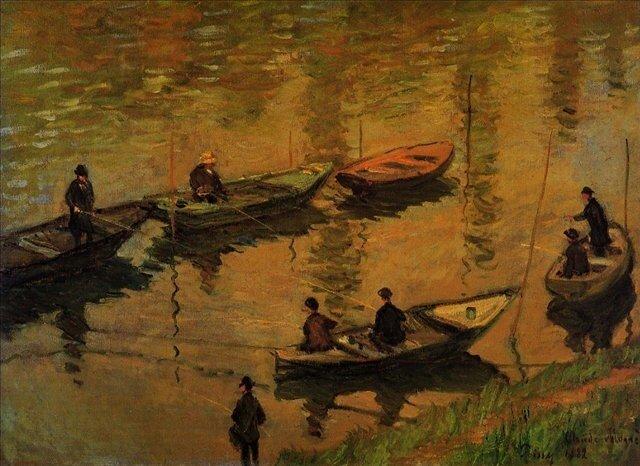 Моне Клод, Рыбаки на Сене