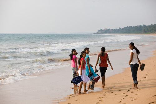 Груповой портрет Шри-Ланкийских красавиц.
