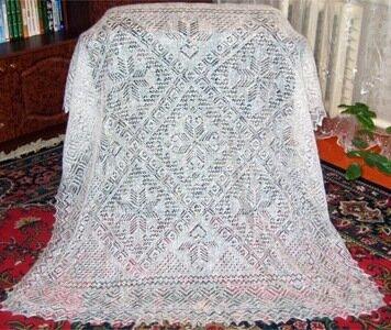 схема вязания платка спицами.