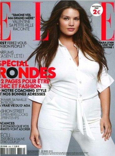 "Модель Тара Линн на страницах журнала  ""Elle ""."
