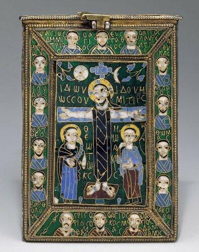 Византийская ставротека «Честного Креста» из музея Метрополитен, ок. 880 г.