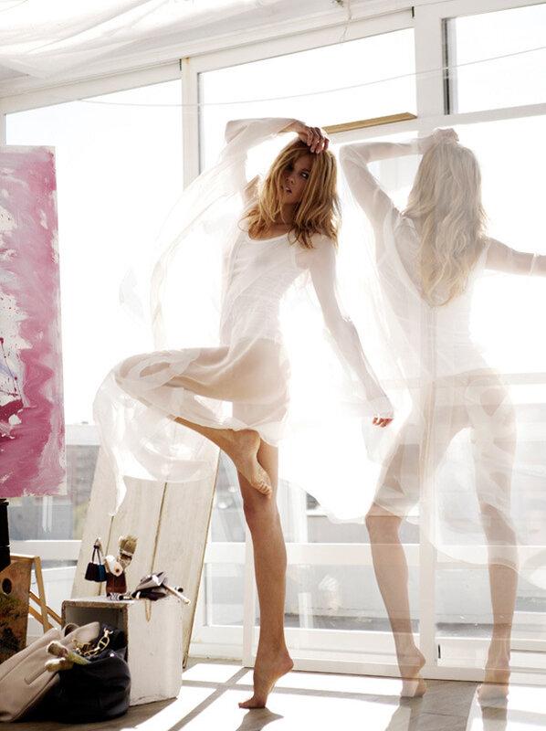 Маша Новоселова by Mario Sierra для журнала Elle