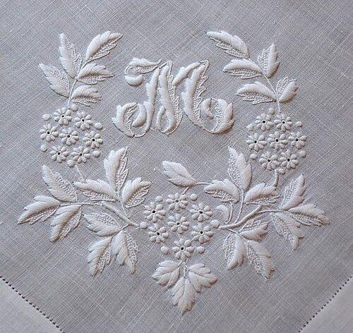 Вышивка белая гладь как украшение одежды изоражения