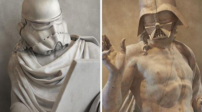 Скульптор из Франции Тревид Дёрден сочетает в своих работах два своих увлечения — древнегречес