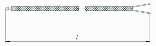 Чертеж термопары хромель-алюмель для логгера EClerk-USB-K