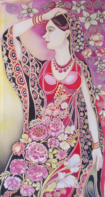 В цветастом платке