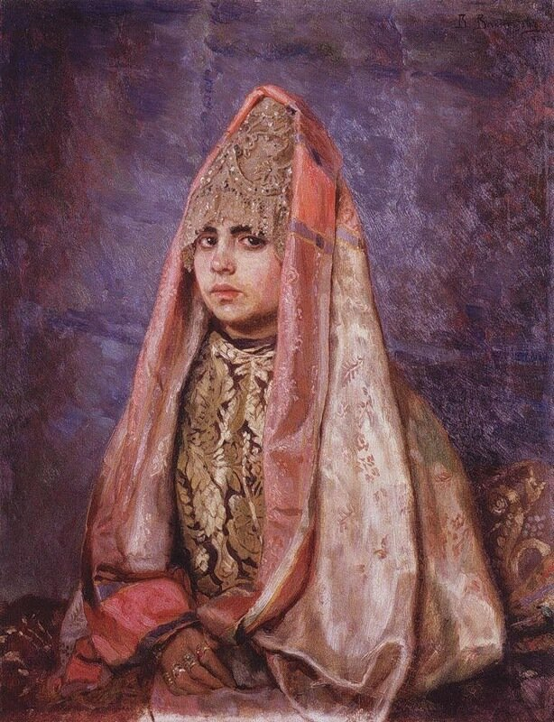 Васнецов, Боярышня (Портрет В.С.Мамонтовой)