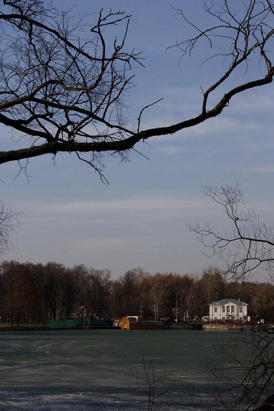 Вид на противоположный берег пруда
