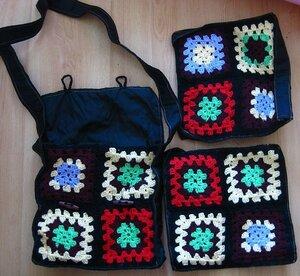 сумки из квадратов.