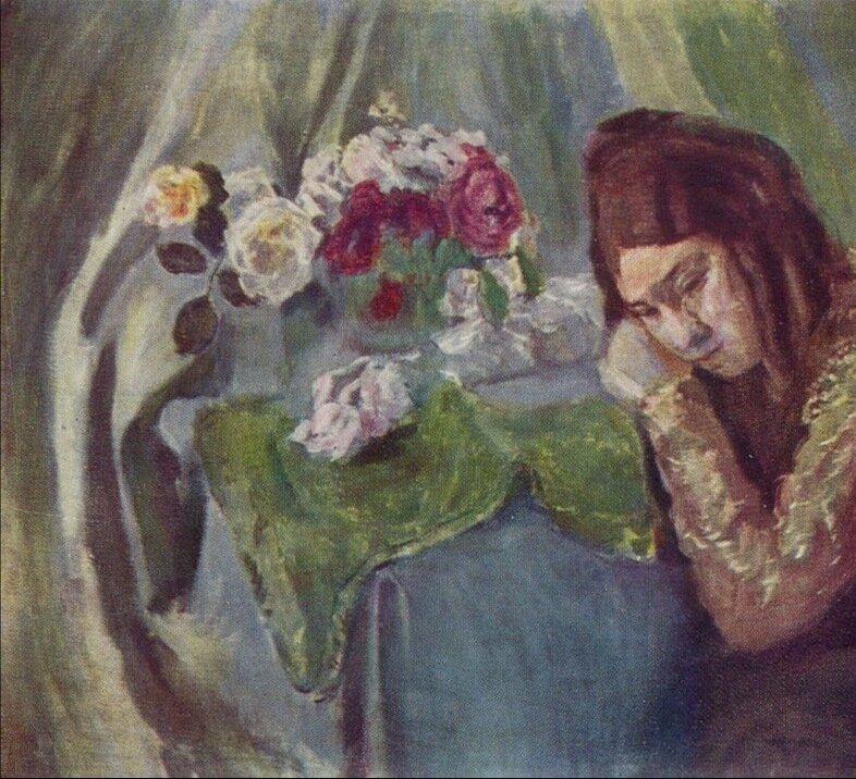 сочинение по картине борисова-мусатова автопортрет с сестрой