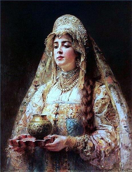 Маковский К.Е. Чарка меду. 1910.