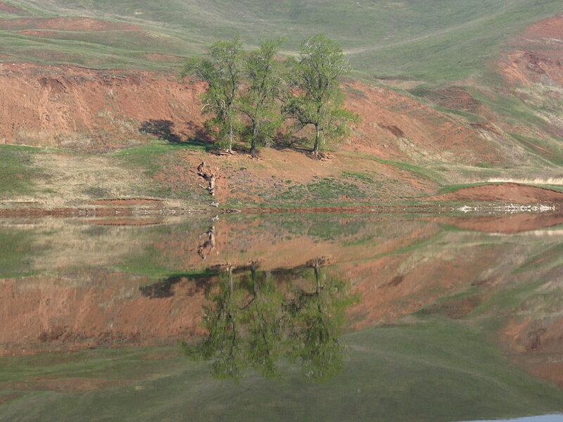 Отражения. Средняя Кама в начале мая
