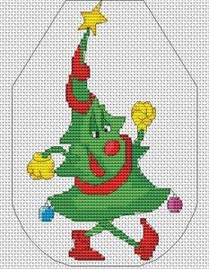 Схема вышивки крестом фартук новогодний фото 75
