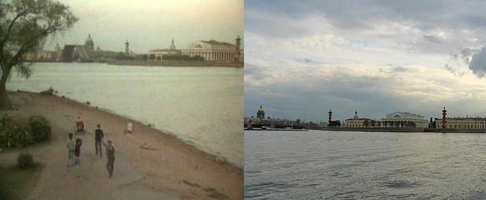 84. Итальянцы убегают от приехавшей милиции. И добегают до пляжа Петропавловки.