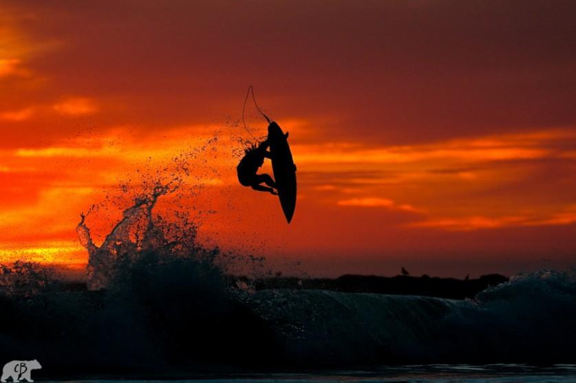Закат в воздухе. Автор фото: Крис Буркард