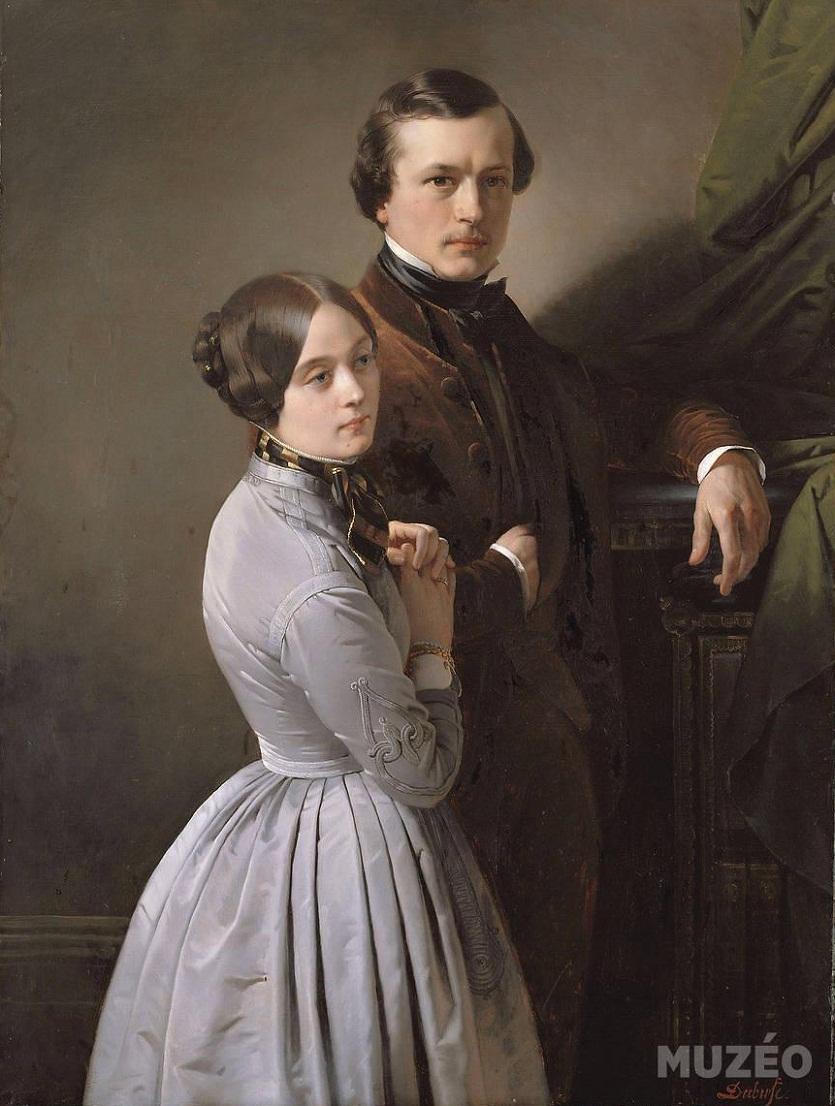 Эдвард и его жена Dubufe de Dubufe Claude-Marie