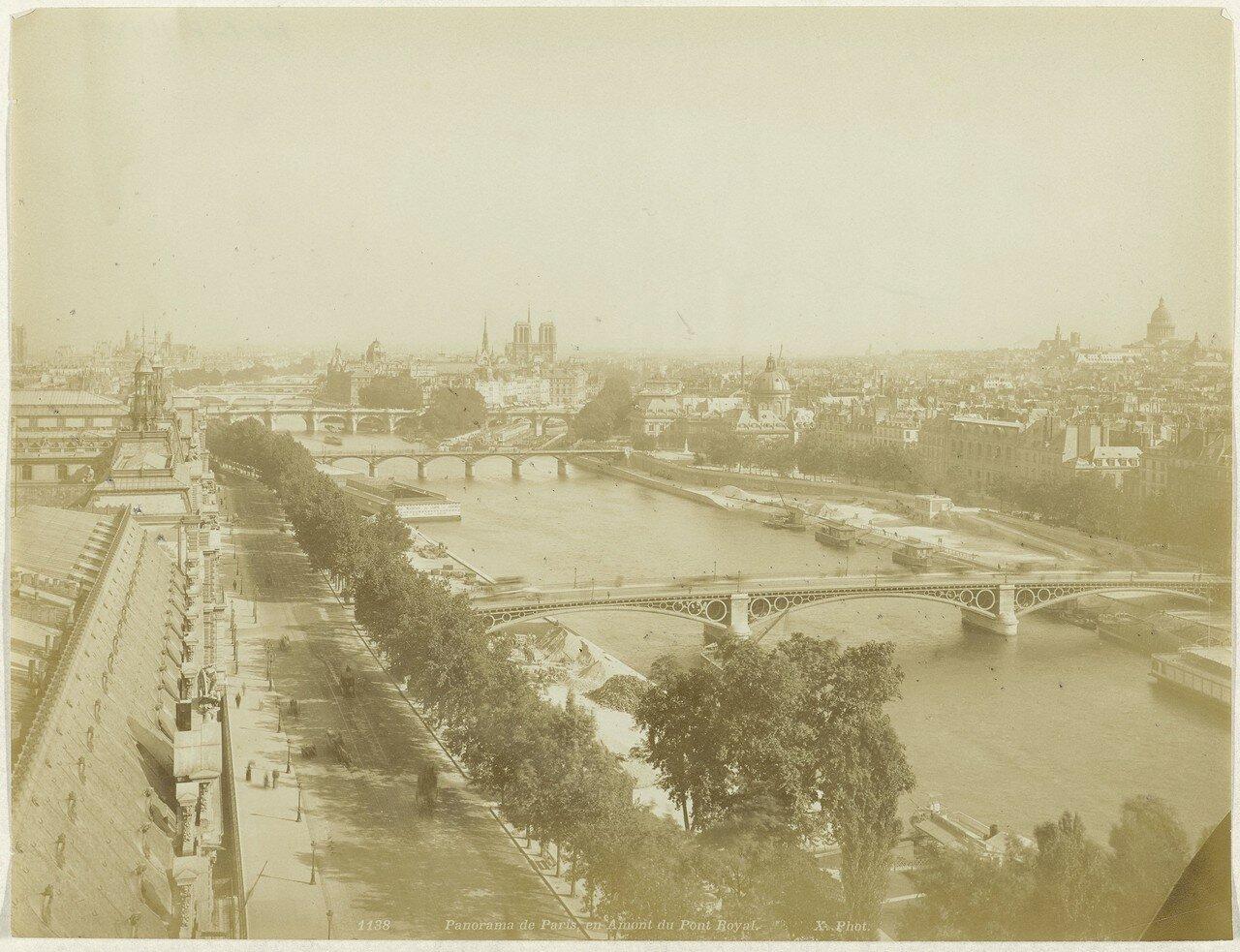 1870-е. Вид Парижа и Сены