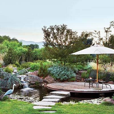 дача пруд патио место отдыха как сделать сад своими руками