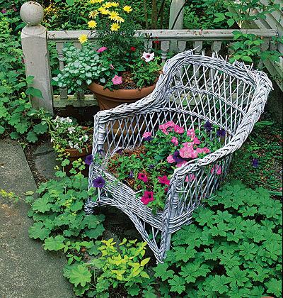 Интересная идея по садовому дизайну