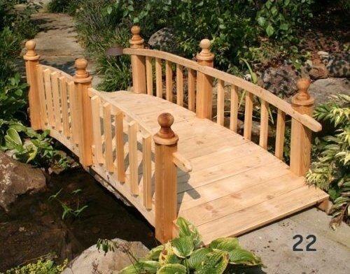 Деревянный мостик на дачу своими руками