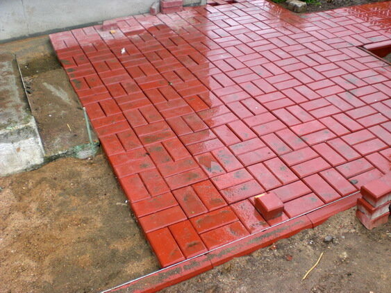 плитка тротуарная кирпичик