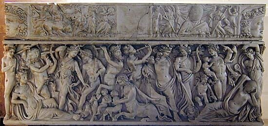 Античная скульптураРимский саркофаг, ок. 230 г. н.э.Париж, Лувр , Восславление Диониса