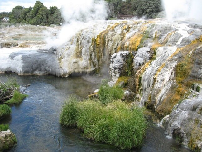 New Zealand Rotorua geyser