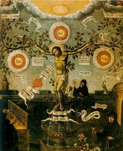Pаспятие (процветший крест) Аз есмь истинная виноградная лоза, а отец мой виноградарь... а вы ветви.