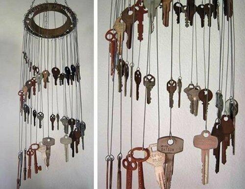 Музыка ветра из старых ключей своими руками 19