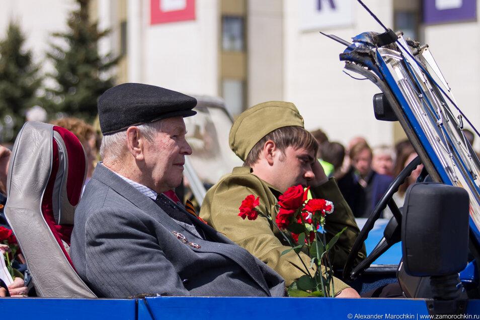 Ветеран на параде 9 мая