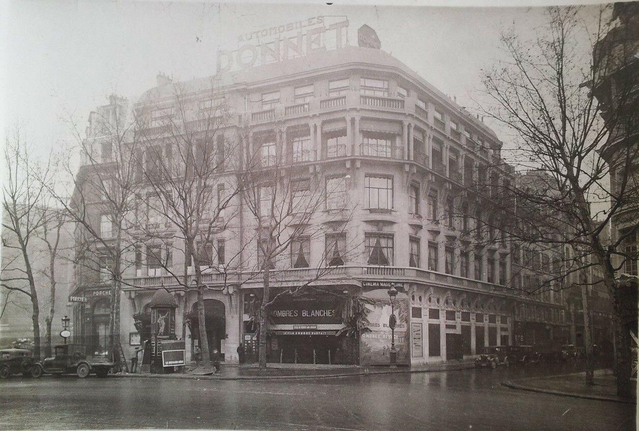 1930-е. Угол бульвара Мадлен и ул. Виньона